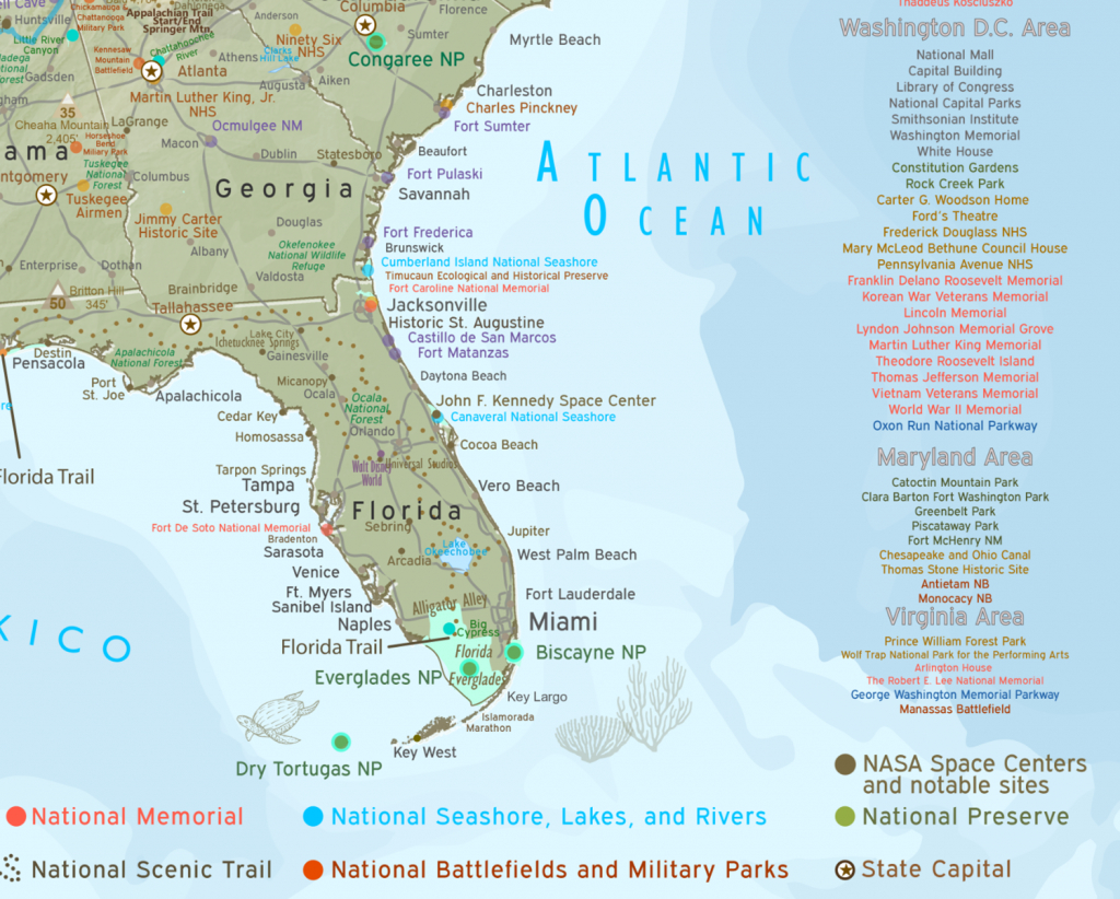 National Parks In Florida Map And Travel Information | Download Free - National Parks In Florida Map
