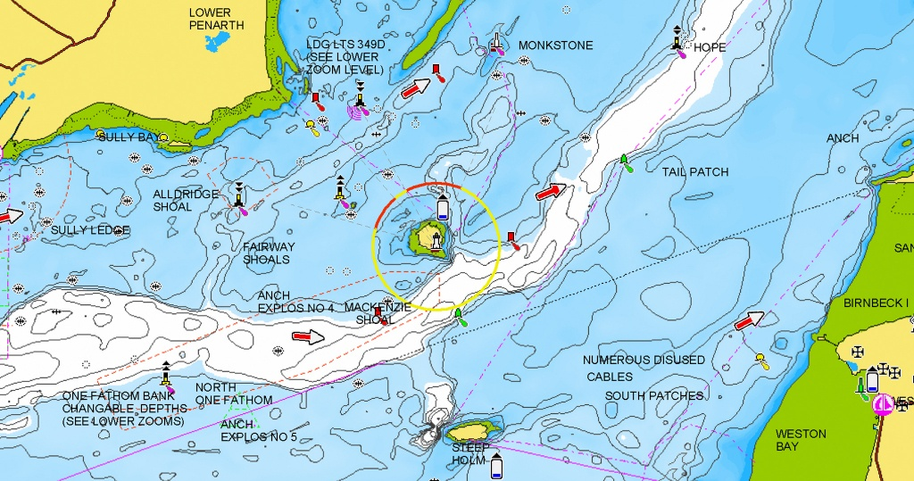 Nautical Chart - Ocean Depth Map Florida