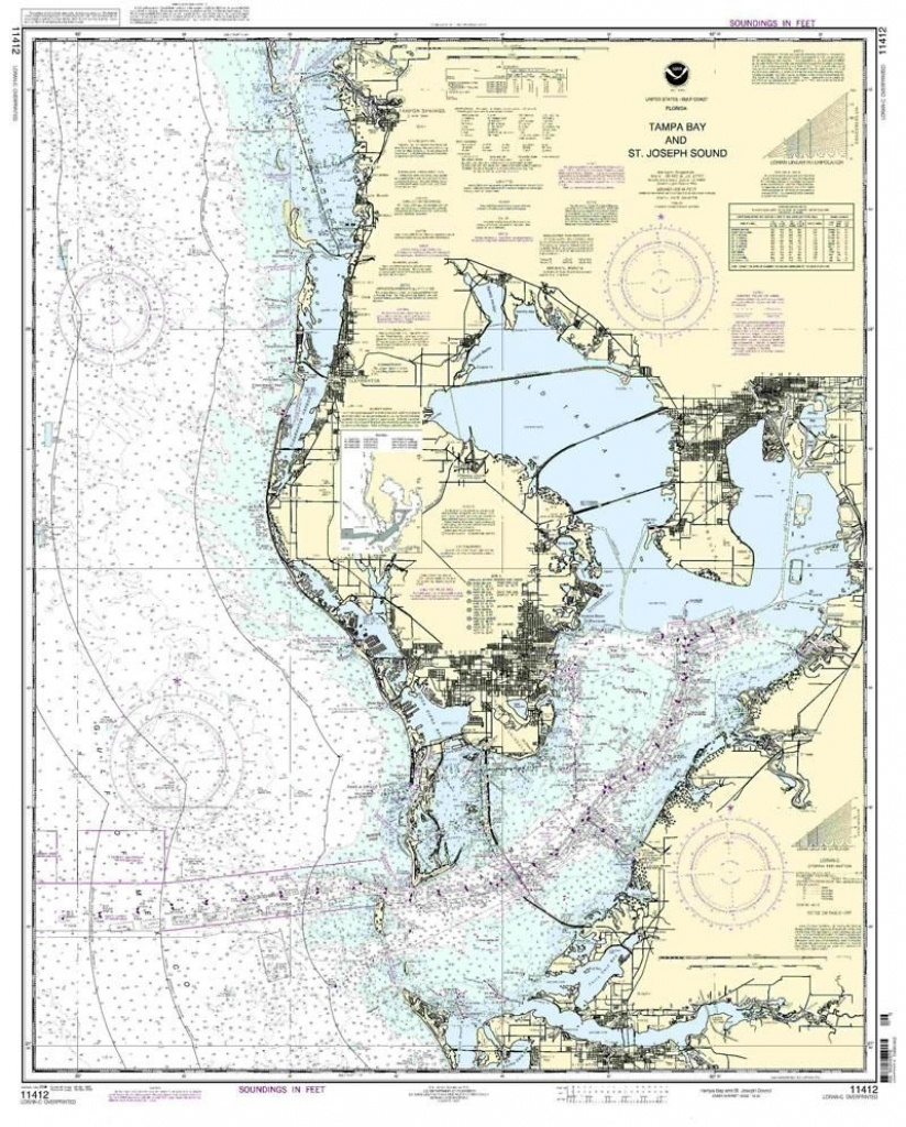 Nautical Map Of Tampa | Tampa Bay And St. Joseph Sound Nautical Map - Boating Maps Florida