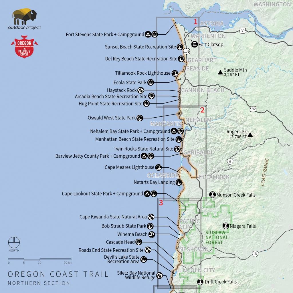 Navigating The Oregon Coast Trail | Outdoor Project - California Coastal Trail Map