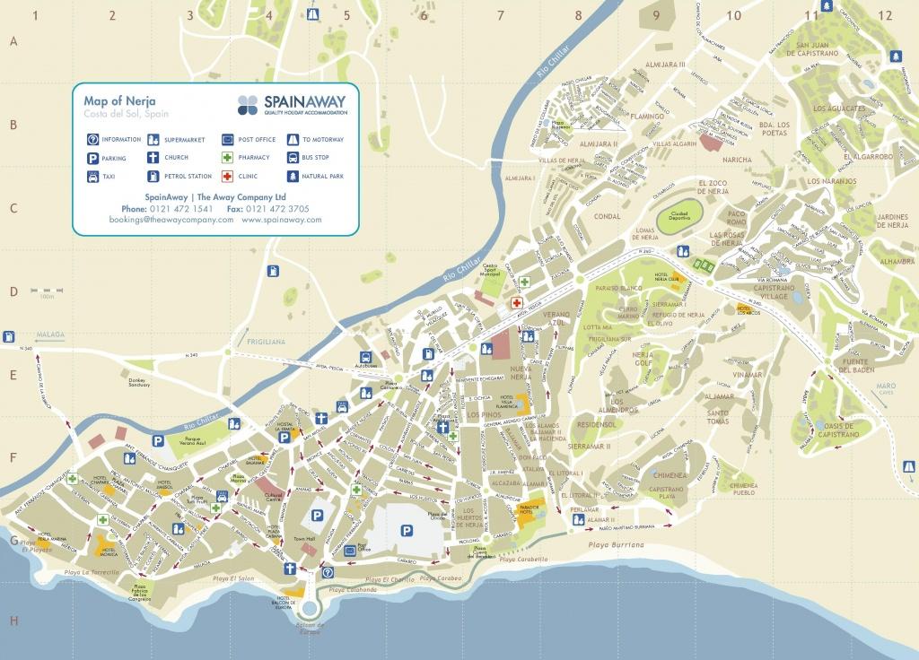 Nerja Tourist Map - Printable Street Map Of Nerja Spain