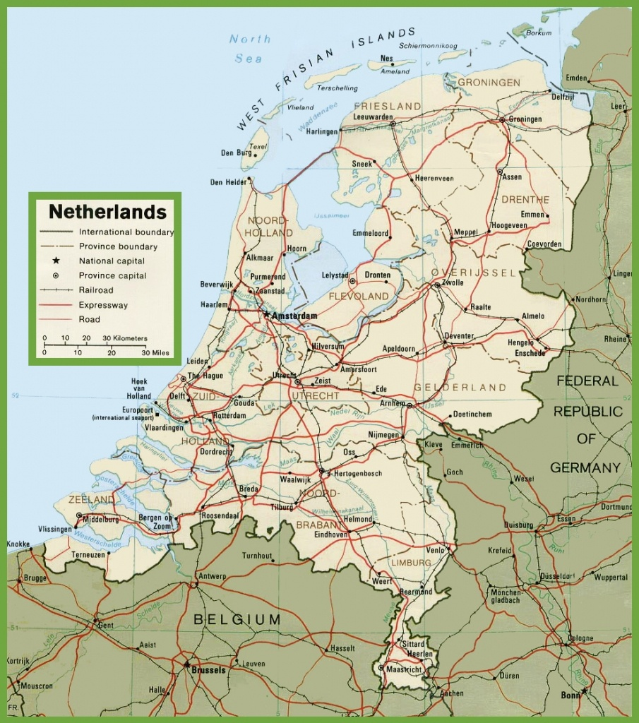 Netherlands Road Map - Printable Map Of The Netherlands