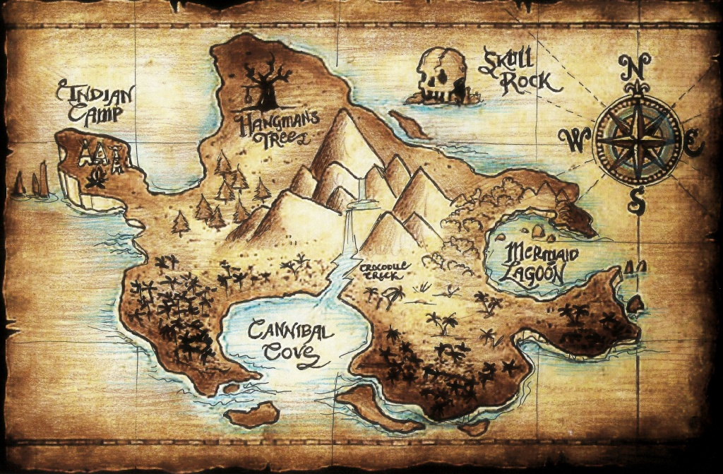 Neverland Map - Google Search | Arts And Crafts | Neverland Map - Printable Neverland Map