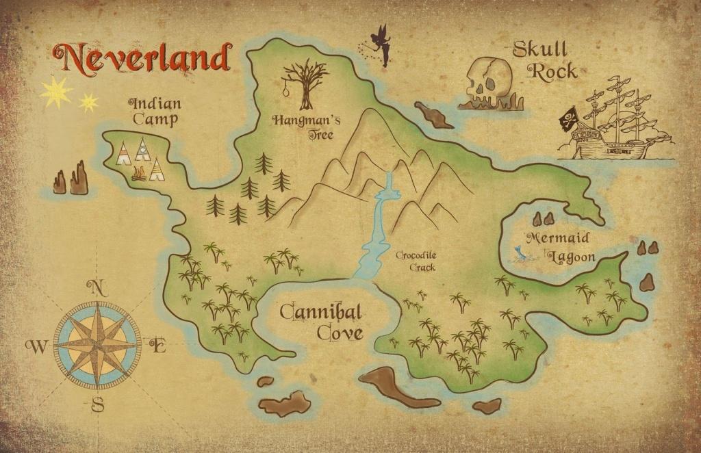 Neverland Map Printable   Freebie! Neverland Map Download   Kids - Printable Neverland Map