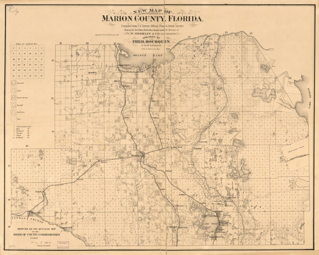 New Map Of Marion County, Florida | Library Of Congress - Marion County Florida Plat Maps