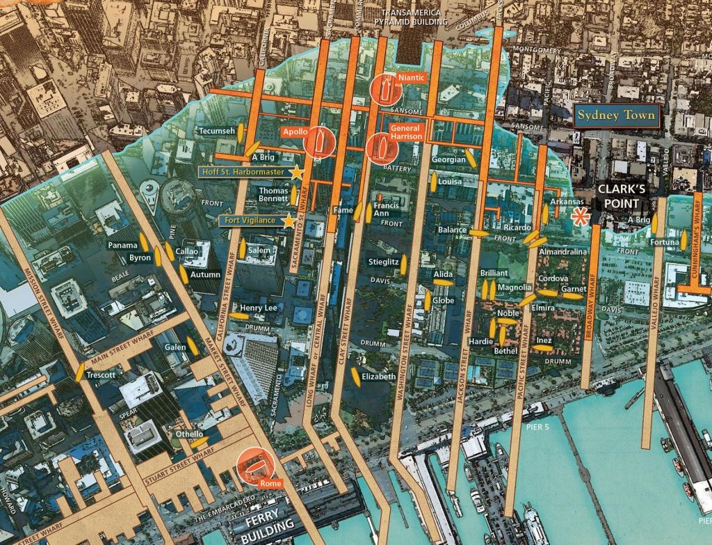 New Map Reveals Ships Buried Below San Francisco - California Shipwreck Map