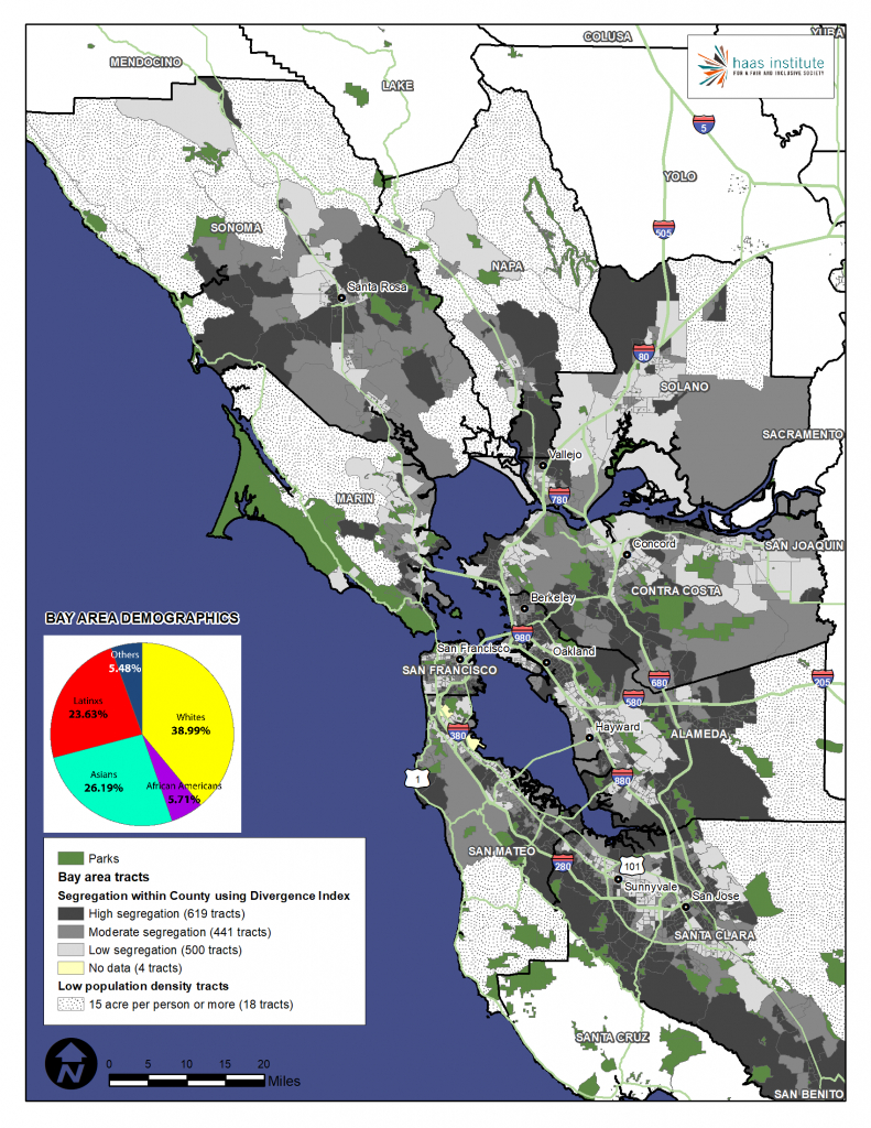 New Maps Provide Granular Look At Racial Segregation In Sf Bay Area - California Demographics Map