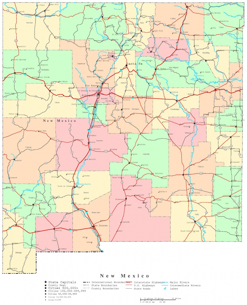 New Mexico Printable Map - New Mexico State Map Printable