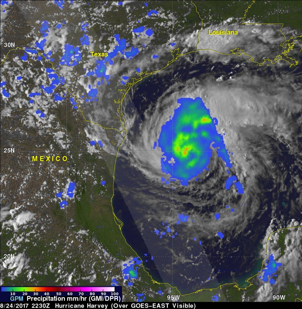 New Nasa Maps Show Flooding Changes In Aftermath Of Hurricane Harvey - Texas Satellite Weather Map