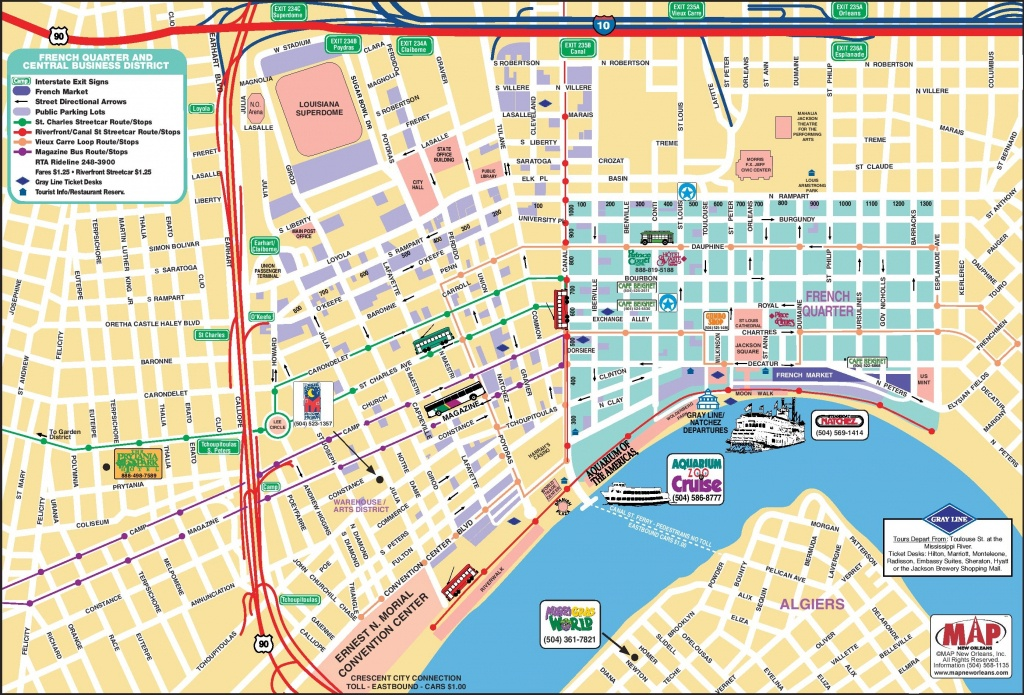 New Orleans French Quarter Tourist Map - Printable Map Of New Orleans