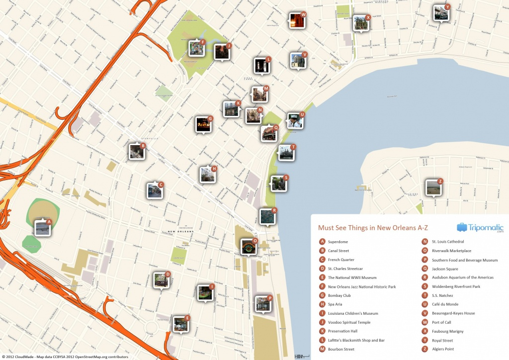 New Orleans Printable Tourist Map | Free Tourist Maps ✈ | New - Printable French Quarter Map