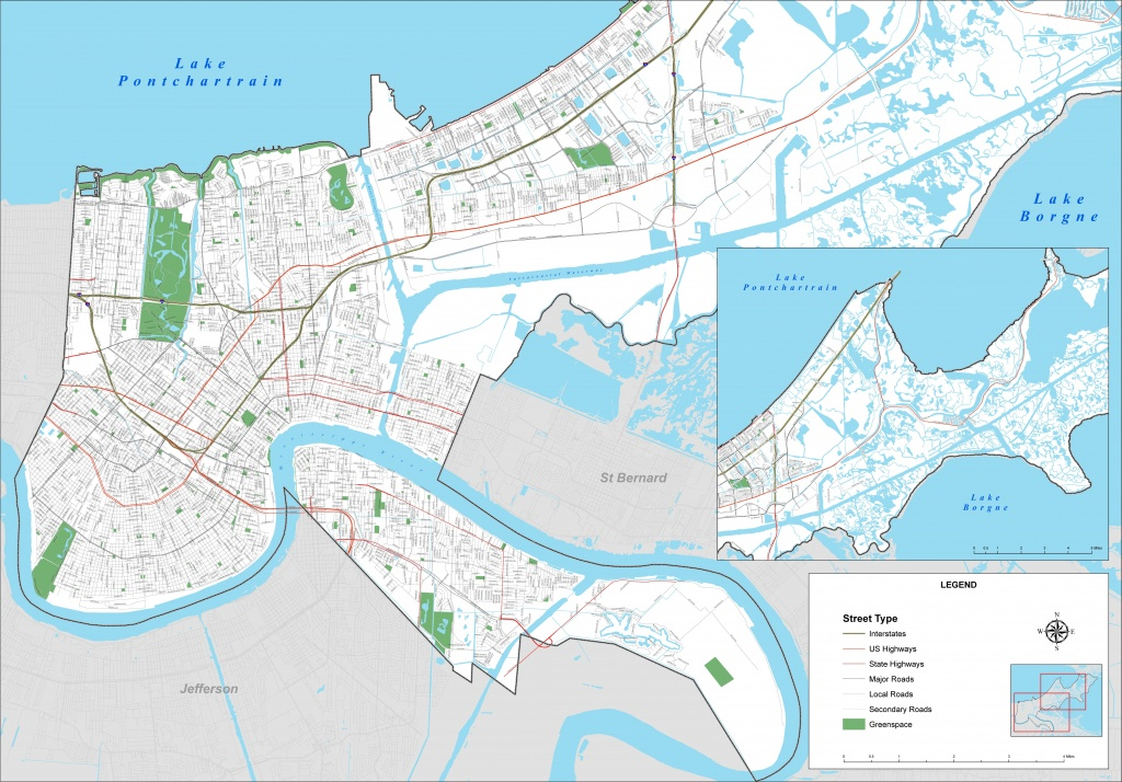 New Orleans Street Map - Printable Map Of New Orleans