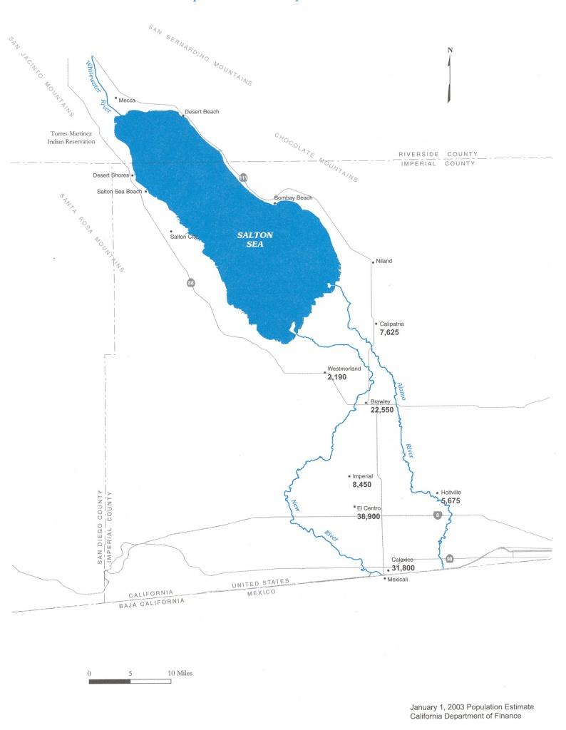 New River (Mexico–United States) - Wikipedia - Salton Sea California Map