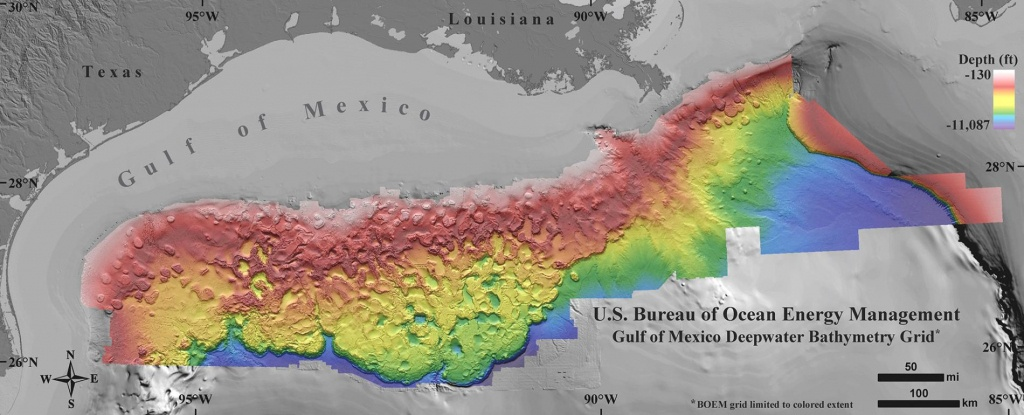 New Seafloor Map Reveals How Strange The Gulf Of Mexico Is - Texas Gulf Coast Fishing Maps