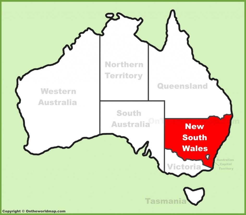 New South Wales State Maps | Australia | Maps Of Nsw (New South Wales) - Printable Map Of Nsw