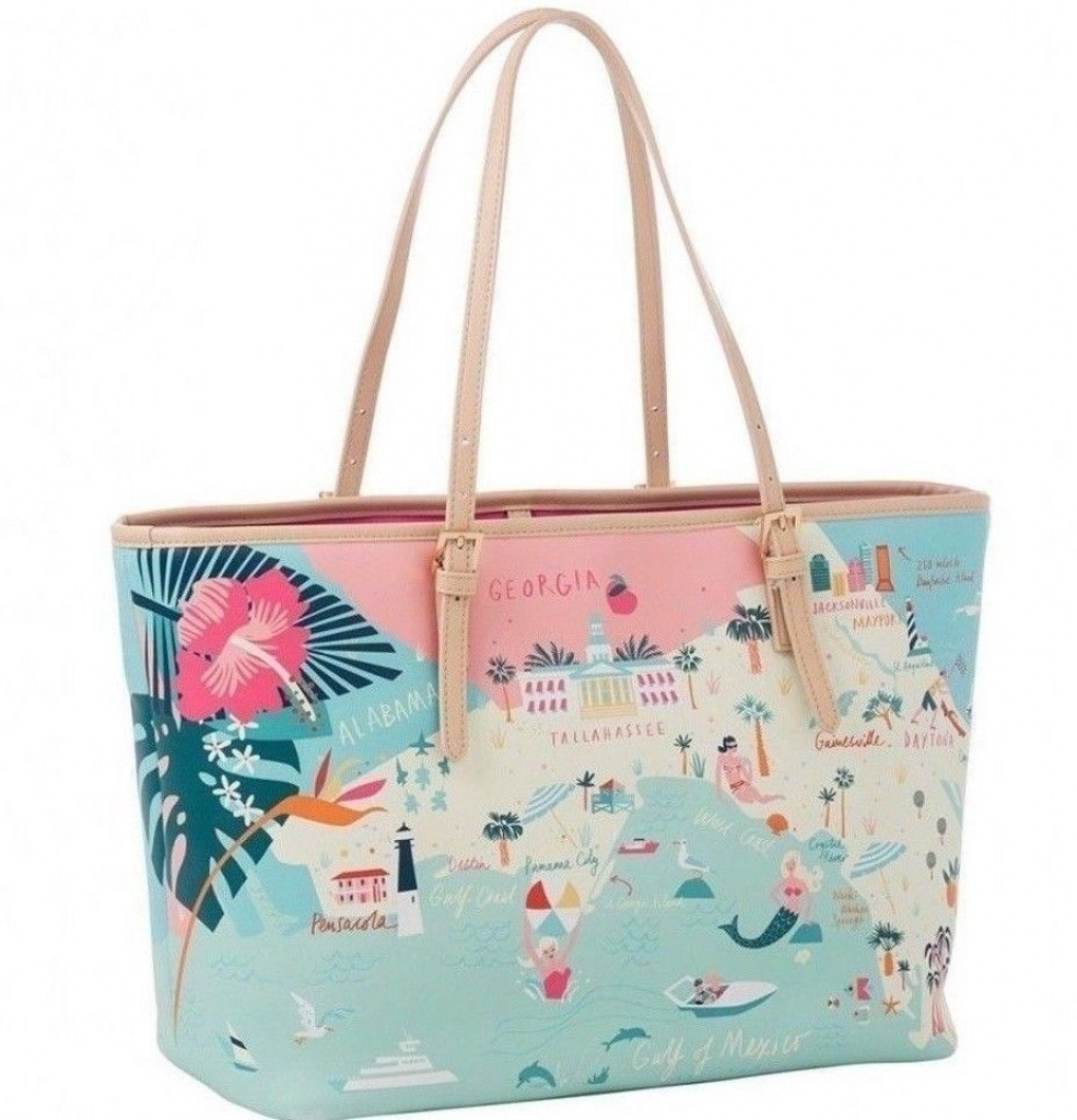 New Spartina 449 Florida Map Tote Bag (Free Shipping) #fashion - Florida Map Purse