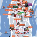 New York City Most Popular Attractions Map   Printable New York City Map With Attractions