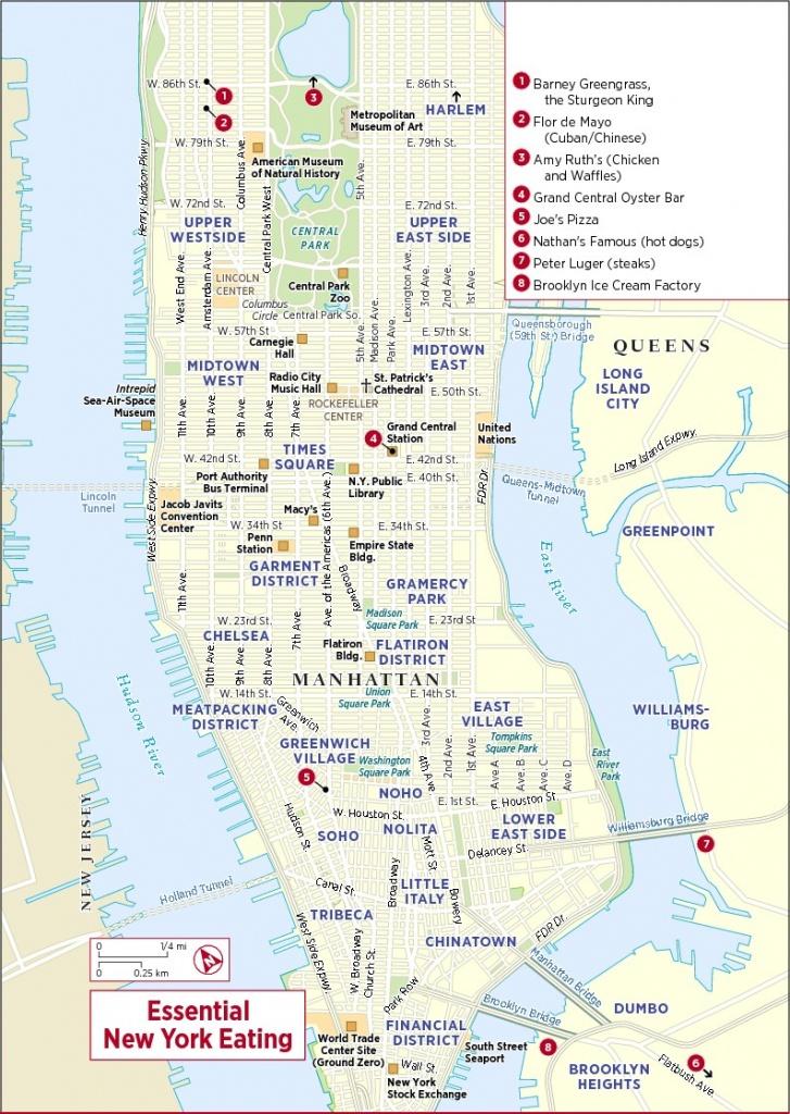 Printable Map Of New York City