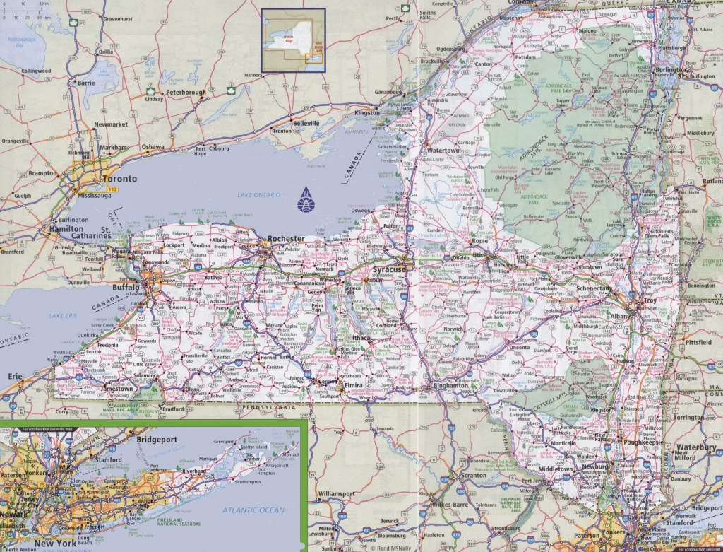 New York State Highway Maps And Travel Information | Download Free - Free Printable State Road Maps