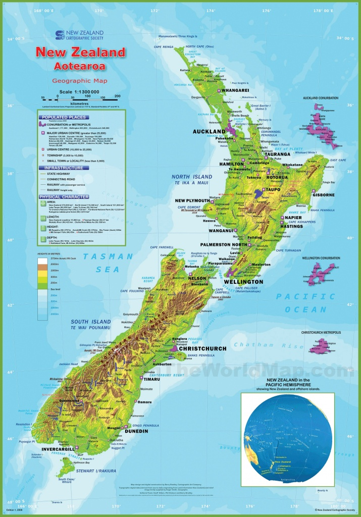 New Zealand Maps | Maps Of New Zealand - Printable Map Of New Zealand