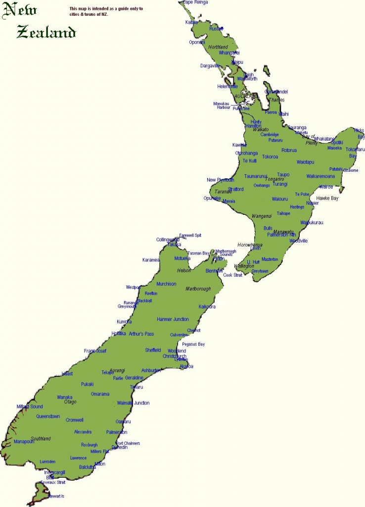 New Zealand Maps | Printable Maps Of New Zealand For Download - New Zealand South Island Map Printable