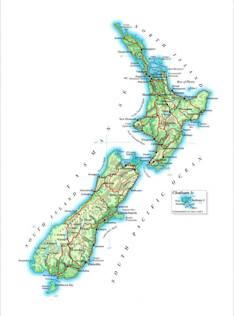 New Zealand Maps | Printable Maps Of New Zealand For Download - Printable Map Of New Zealand