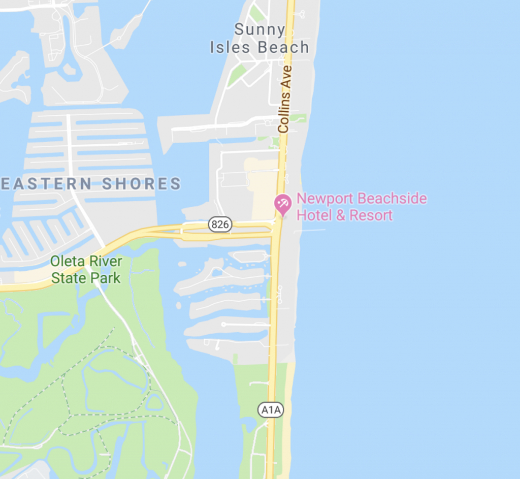 Newport Beachside Hotel & Resort   Sunny Isles, Florida - Sunny Isles Florida Map