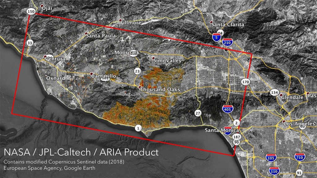 News | Nasa's Aria Maps California Wildfires From Space - California Fires Update Map