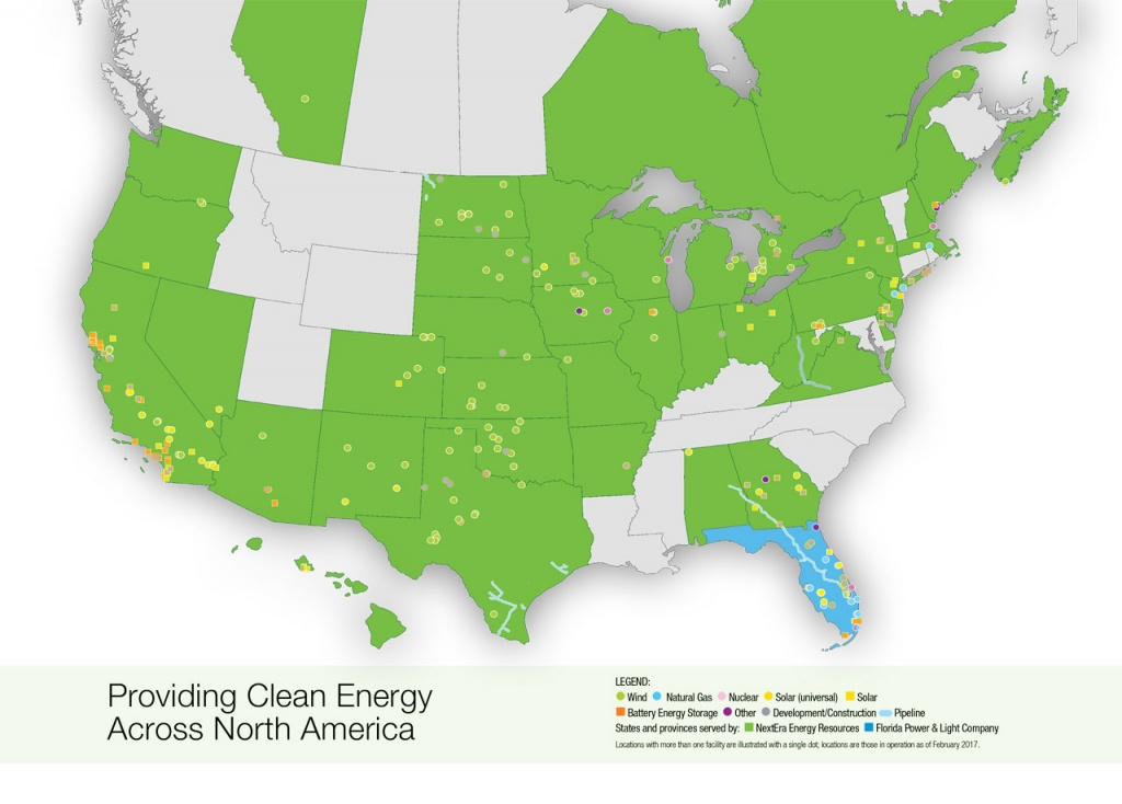 Nextera Energy Resources | Locations Map - Florida Power Companies Map