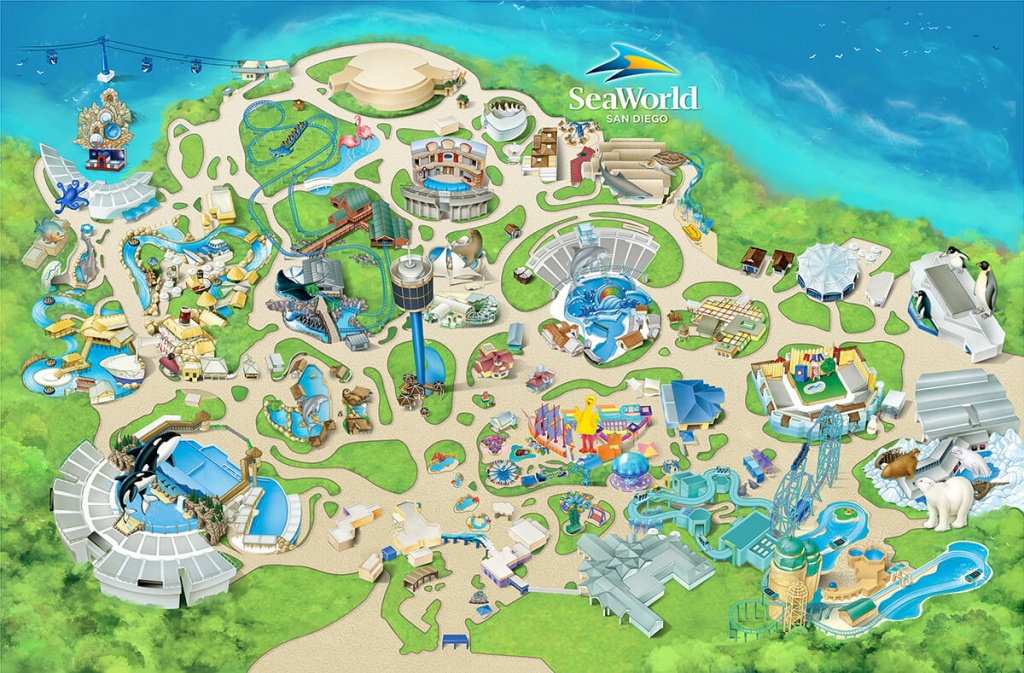 Nice Design Ideas Sea World Map Theme Park Attractions Seaworld San - Seaworld California Map