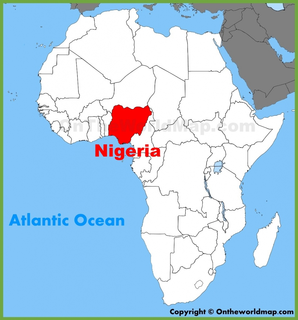 Nigeria Location On The Africa Map - Printable Map Of Nigeria