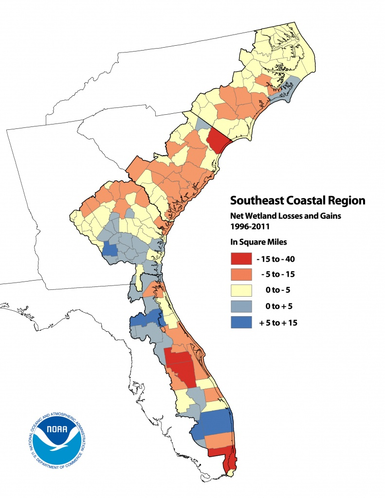 Noaa Analysis Reveals Significant Land Cover Changes In U.s. Coastal - Florida Wetlands Map