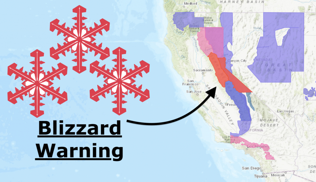 Noaa: California Storm Upgraded | Blizzard Warning Issued | 34-78 - California Snow Map