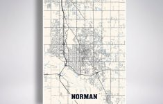 Norman Map Print Norman City Map Oklahoma Ok Usa Map Poster | Etsy – Printable Map Of Norman Ok