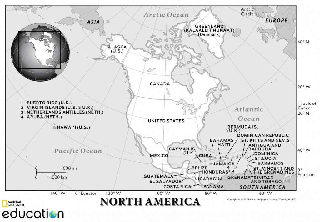 North America: Physical Geography | National Geographic Society - 5 Regions Of The United States Printable Map