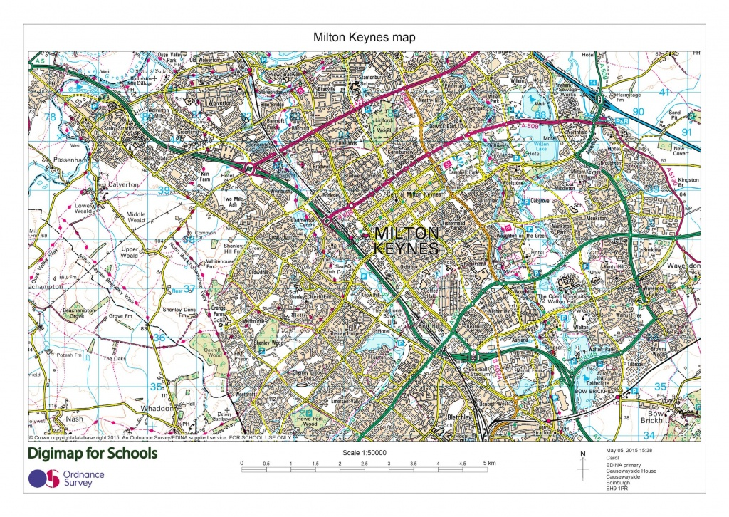 North Arrow Now On Printed Maps » Digimap For Schools Blog - Printable Os Maps