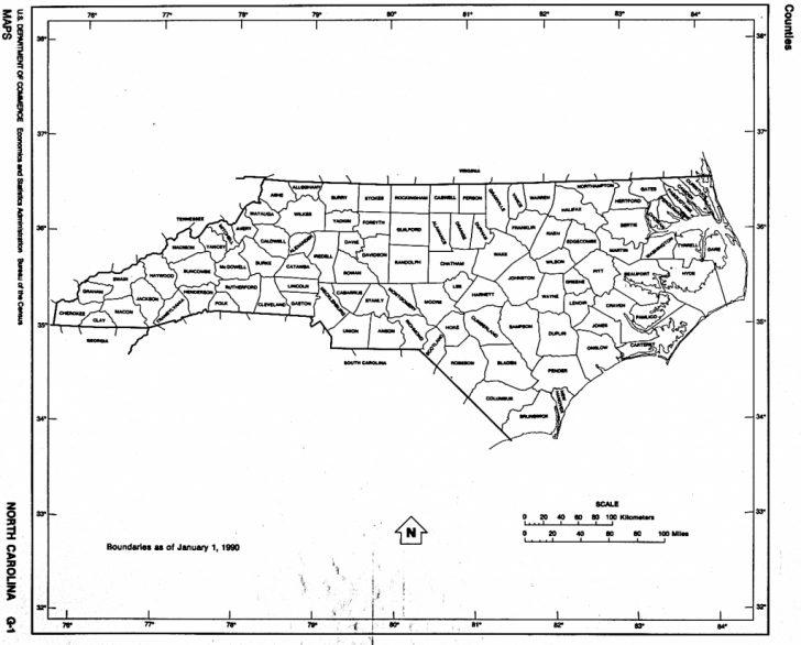 Printable Nc County Map