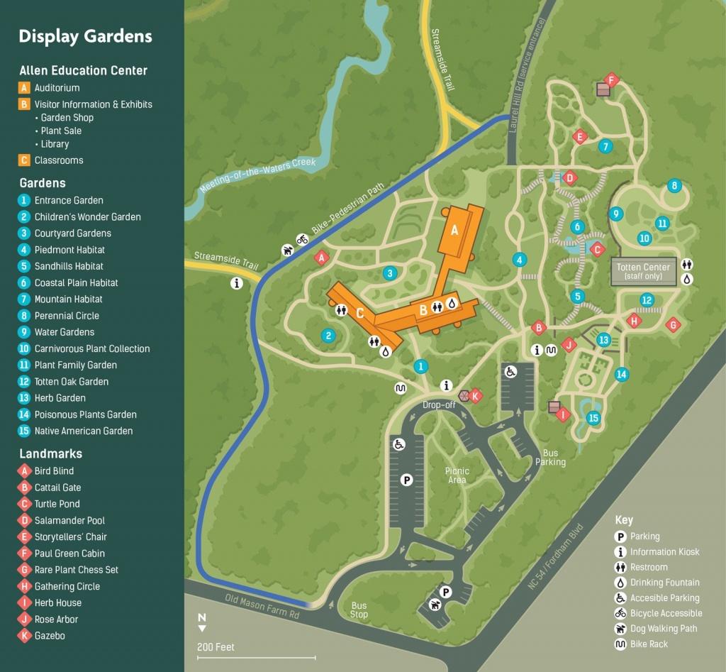 North Carolina Botanical Garden Map | Park Design | Florida - Florida Botanical Gardens Tourist Map