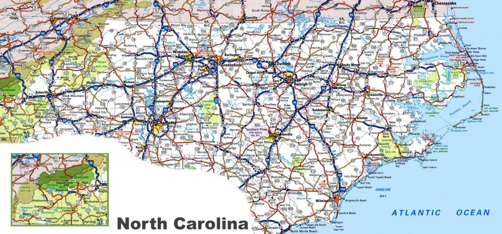 North Carolina Road Map - Printable Map Of North Carolina