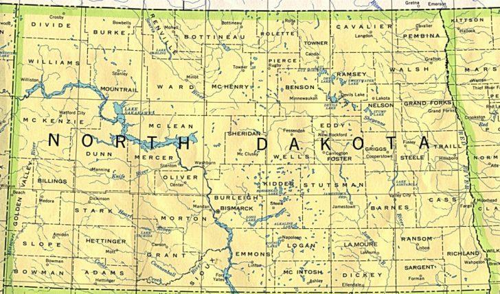 Printable Map Of North Dakota