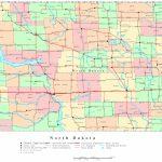 North Dakota Printable Map   Printable Map Of North Dakota