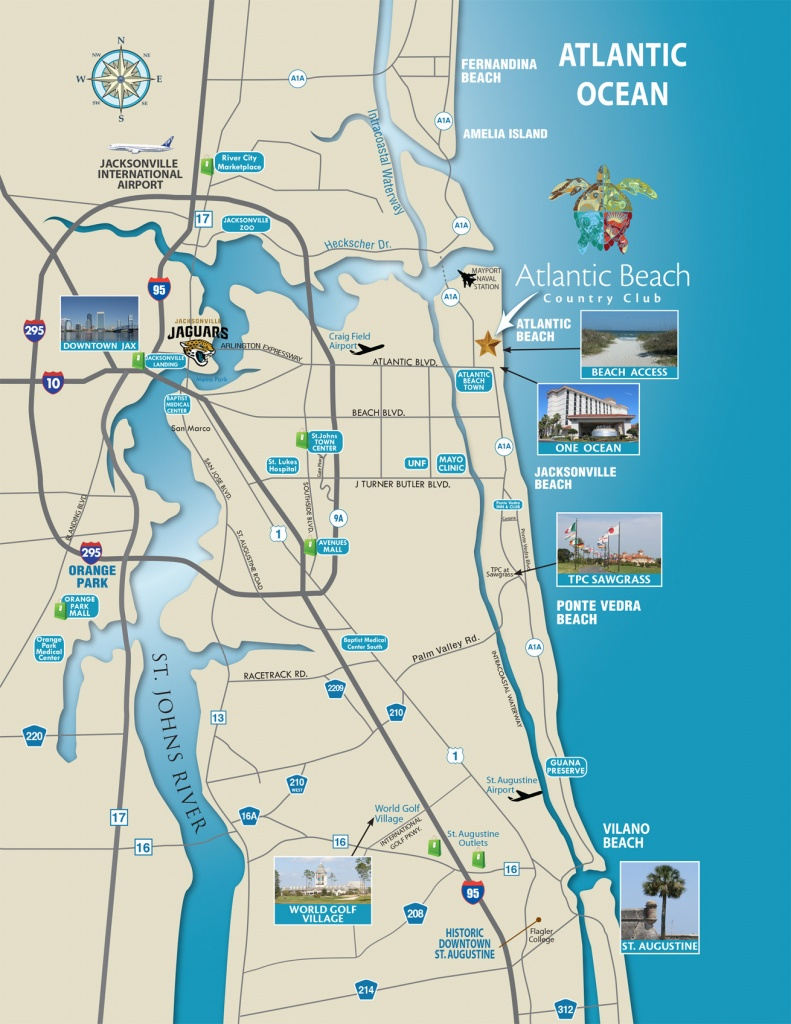 North Florida Map - Atlantic Beach Country Club | Jacksonville - Florida North Map