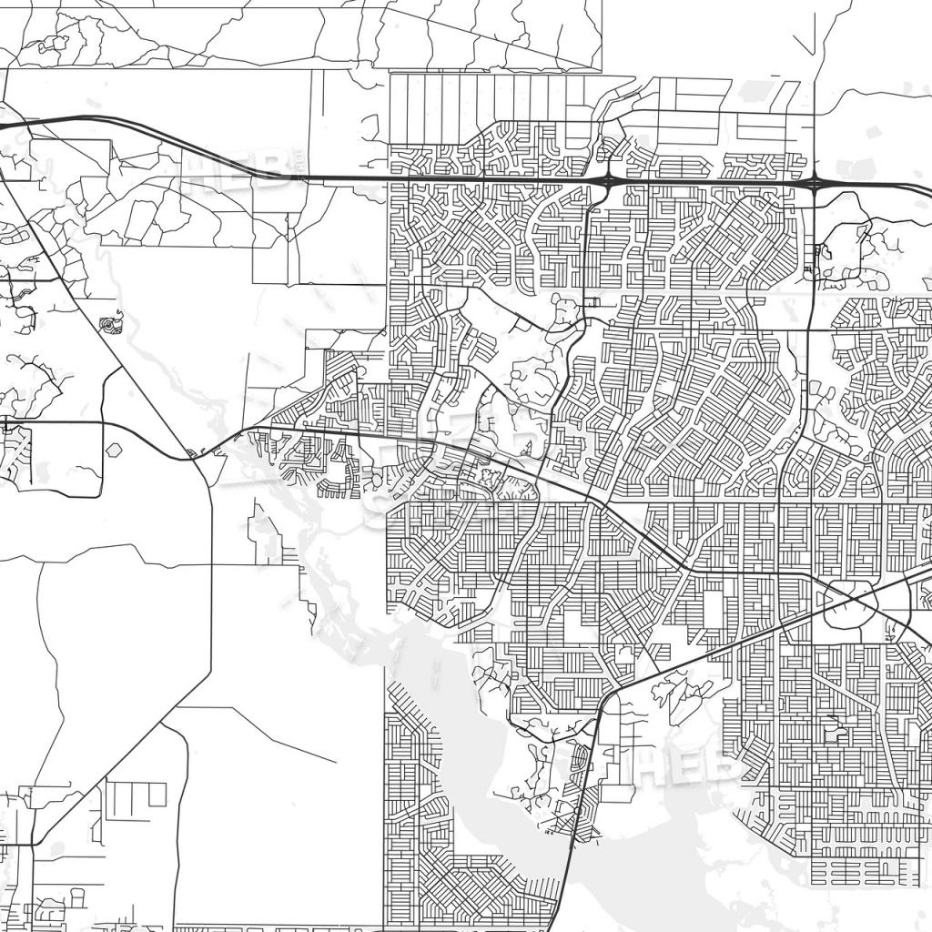 North Port, Florida - Area Map - Light | Hebstreits Sketches - North Port Florida Map