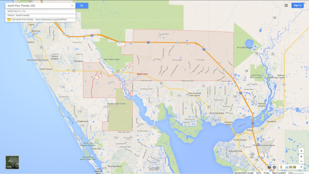 North Port Florida Map - Where Is Northport Florida On The Map