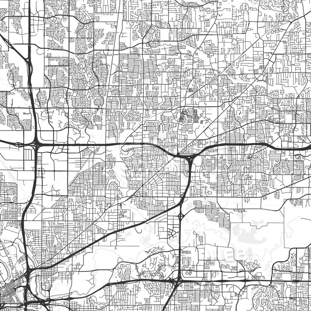 North Richland Hills, Texas - Area Map - Light   Hebstreits Sketches - Richland Hills Texas Map