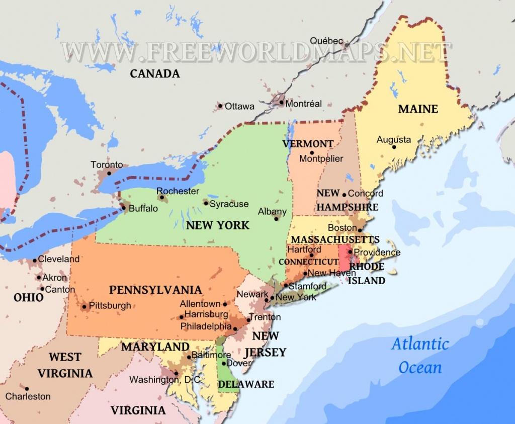 Northeastern Us Maps - Printable Map Of Northeast States