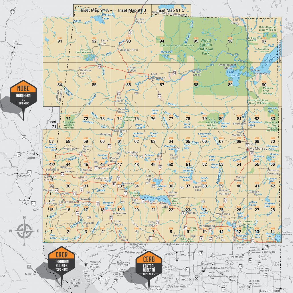 Northern Alberta (Noab) - Printable Map Of Alberta