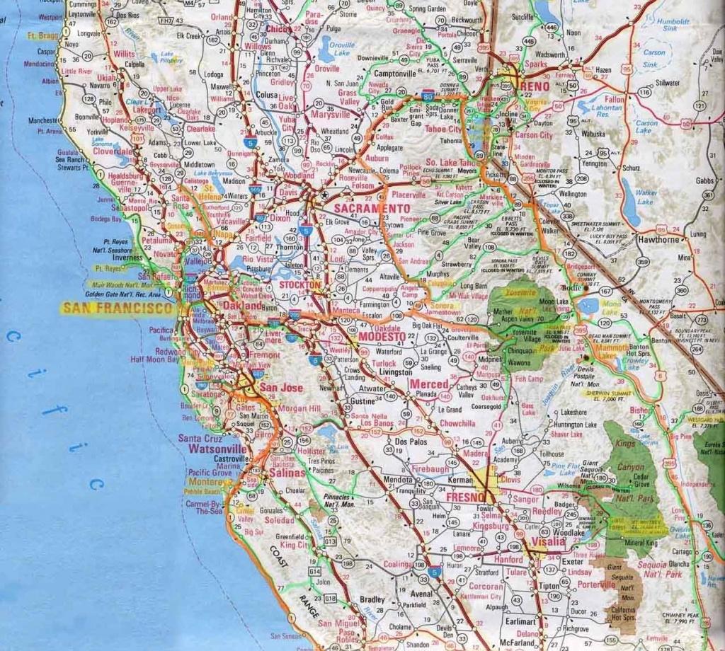 Northern Californi Highway Map Of Northern California Detail Map Of - Road Map Of Northern California