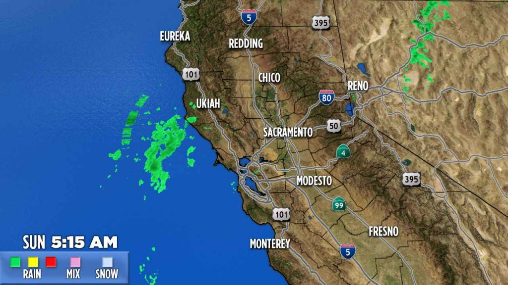 Northern California | Abc7News - California Radar Map