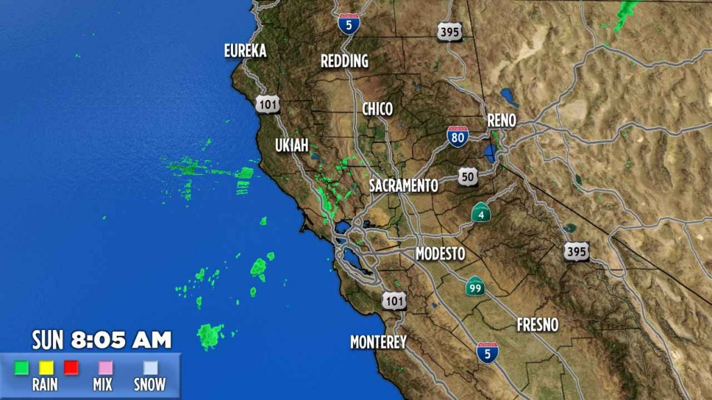 Northern California | Abc7News - California Weather Map